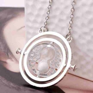 Harry Potter Time Turner necklace chrome-white