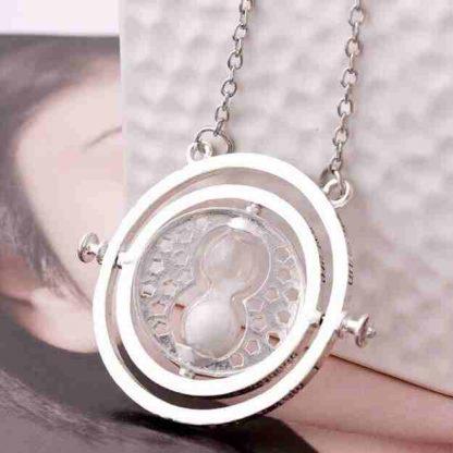 Harry Potter Time Turner necklace chrome-white