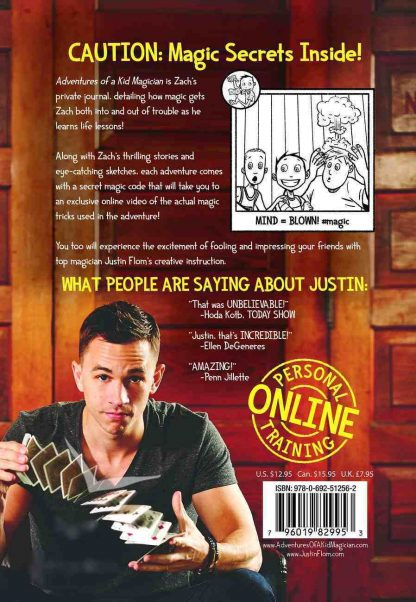 adventures of a kid magician Justin Flom back cover
